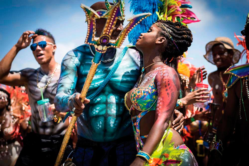 Crop Over celebrations in Barbados. Photo by Rodney Legall / Alamy Stock Photo