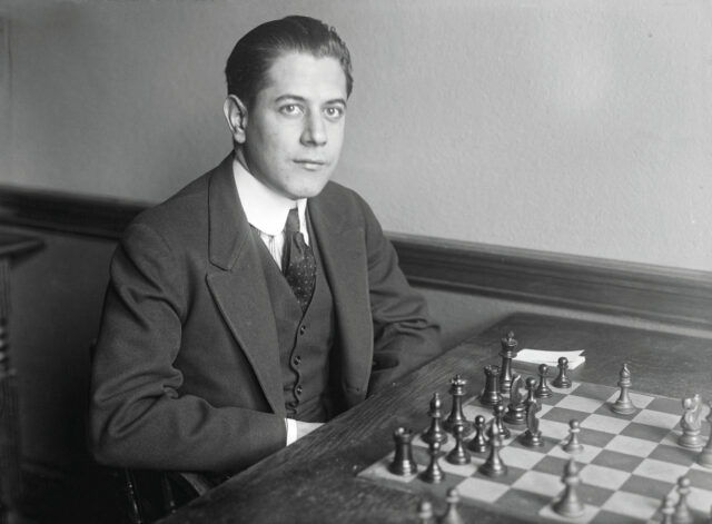 José Raúl Capablanca first took the world chess champion title in 1921. Photo by Harris and Ewing courtesy Library of Congress