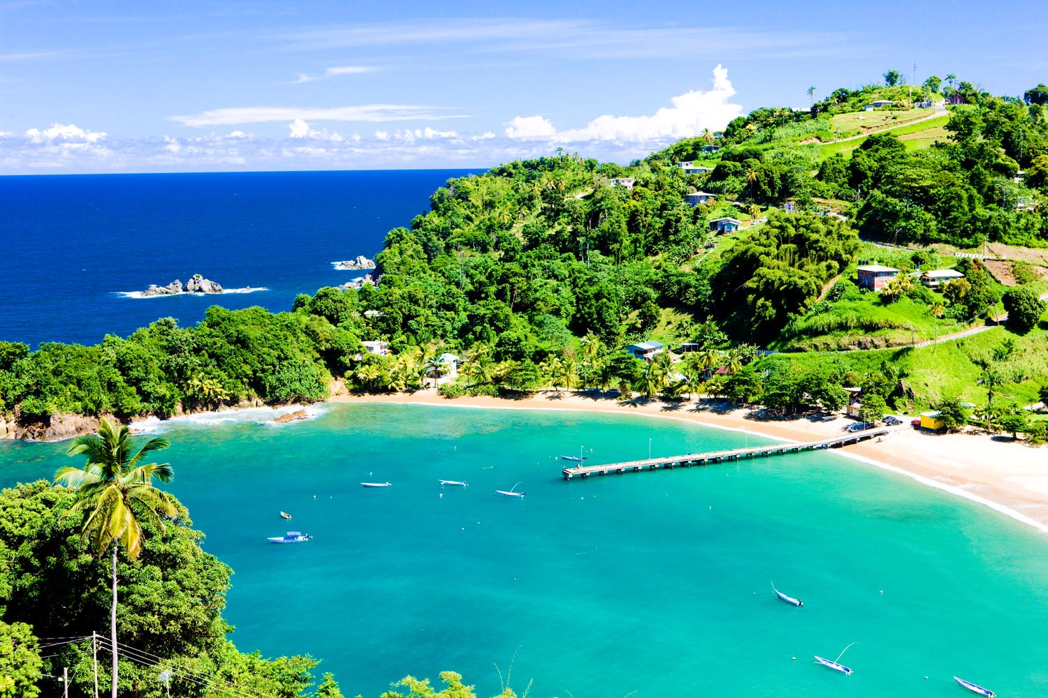 Parlatuvier Bay, one of the gems of Tobago. Photo by Richard Semik/Shutterstock.com