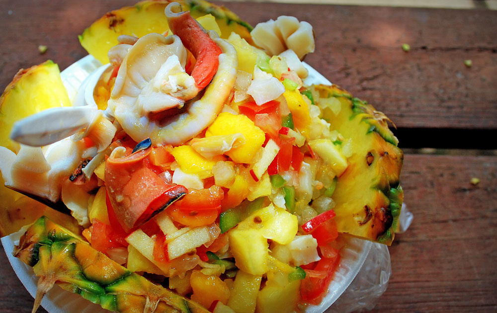Pineapple Conch Salad. Photo by Michelle Strachan Photography