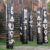 Marcel Pinas's Kibi Wi Totems outside Fort Zeelandia. Photo courtesy Marcel Pinas