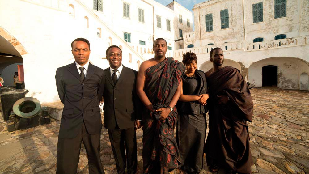Actor Nickolai Salcedo (at left) and other members of the HERO cast. Photo courtesy Caribbean Tales