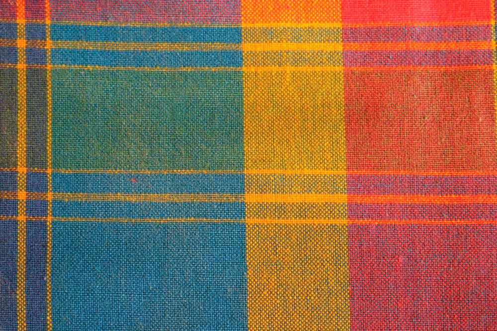 Detail of madras cloth. Photo by cri1810/iStock.com
