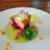 Javon Cummins's chilled sous vide pork with beetroot pudding, pickled gelée, parsley foam, and Scotch bonnet mango gel. Photo courtesy Javon Cummins