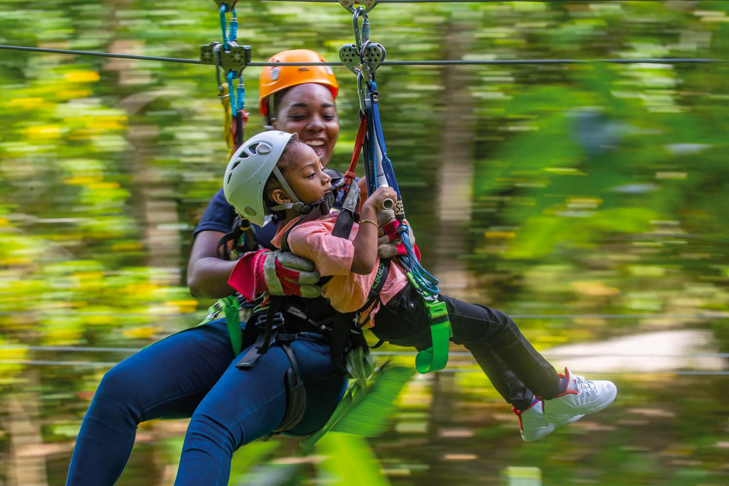 Life goes by fast on the zipline at St Lucia's Rainforest Adventures. Photo courtesy St Lucia Tourism Authority