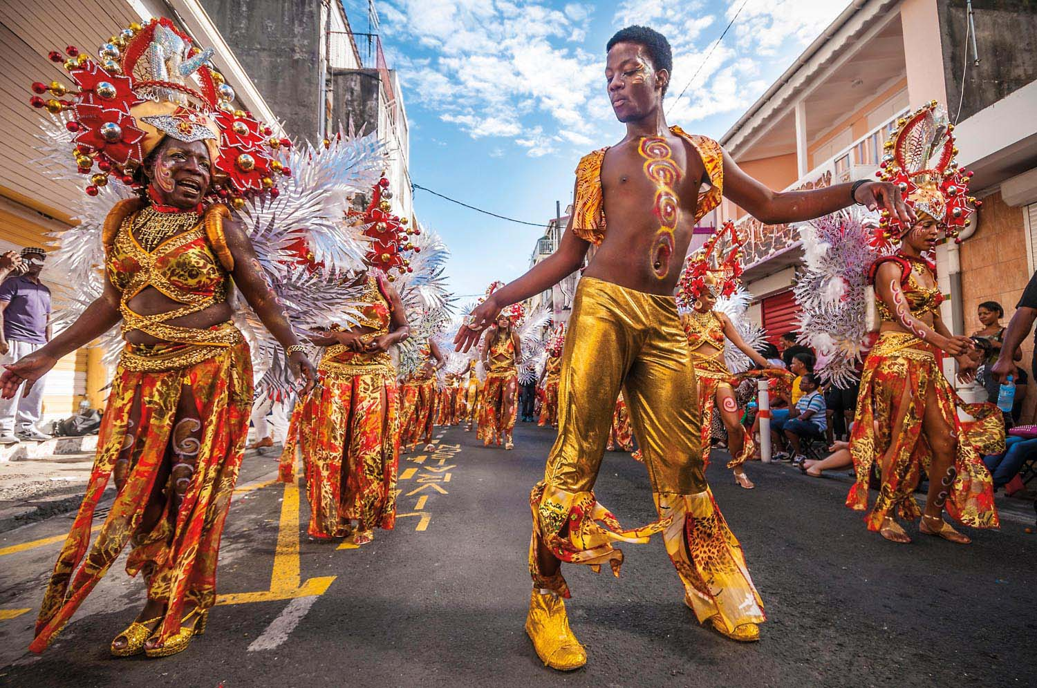 Carnival in Guadeloupe. Photo by Hemis/Alamy Stock Photo