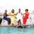 From left to right: Kevinia Francis, Samara Emmanuel, Christal Clashing, Junella King, and Elvira Bell — the Team Antigua Island Girls. Photo courtesy Team Antigua Island Girls