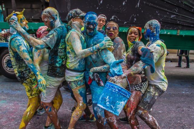 3Canal revellers on J'Ouvert morning. Photo by Elliot Francois FOTOGRAPHY