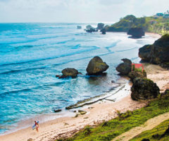 The rugged coast at Bathsheba, one of the classic sights on a drive along the east coast of Barbados. Photo courtesy Barbados Tourism Marketing Inc.