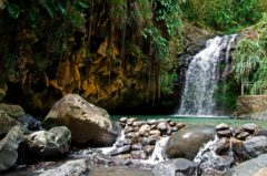 A small mountain river plunges into a perfect pool at Annandale Falls. Photo by Mauritius images GmbH/Alamy Stock Photo