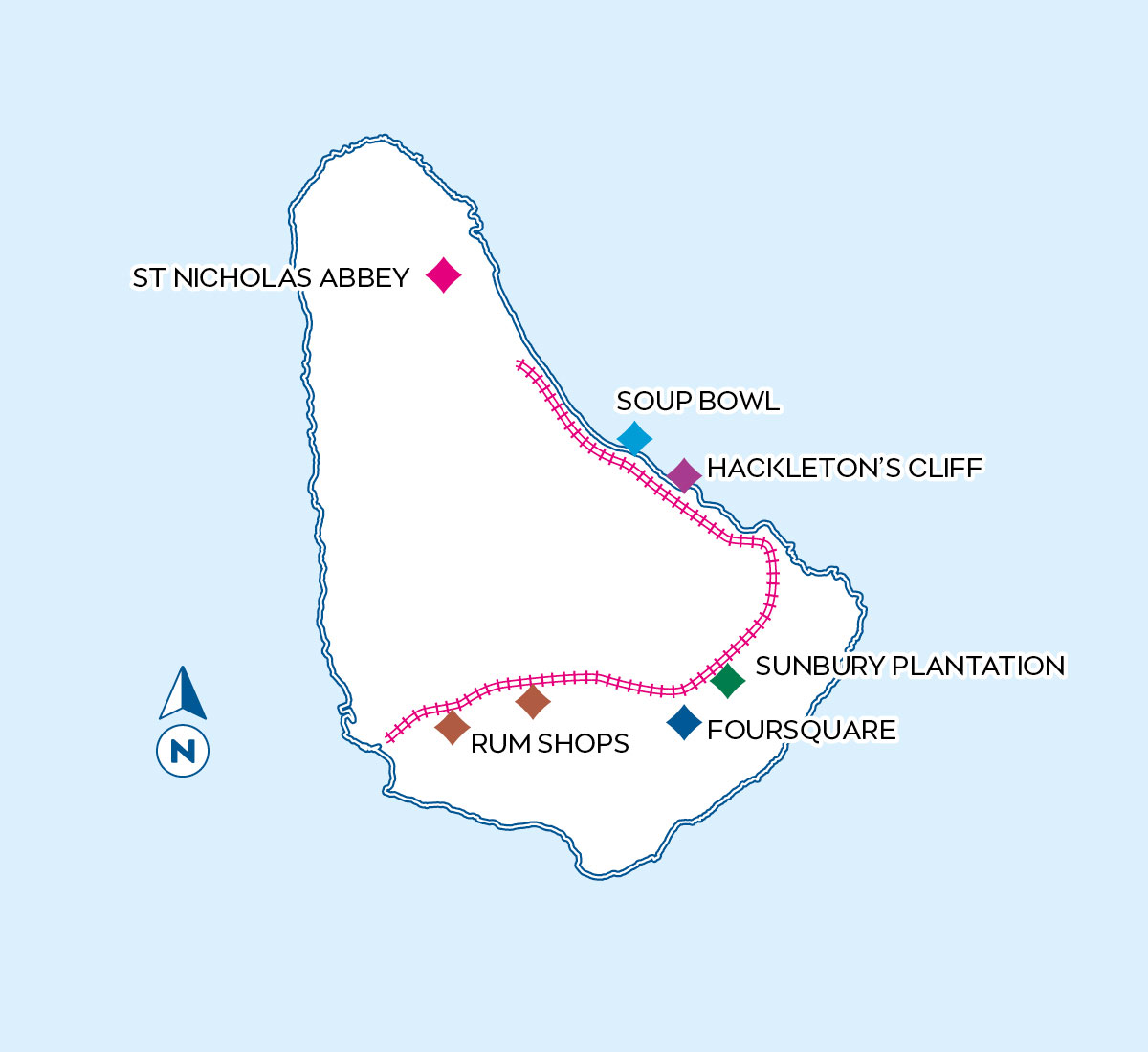 Barbados Whole Day Map
