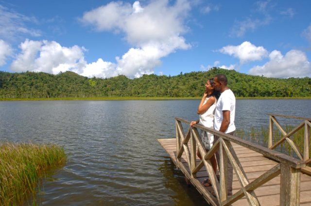 Taking in the view at Grand Etang. Photo courtesy Pure Grenada Tourism Authority