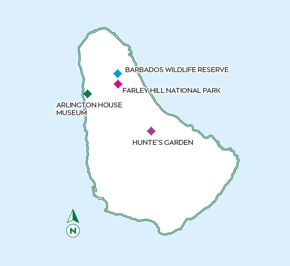 Barbados Half A Day Map