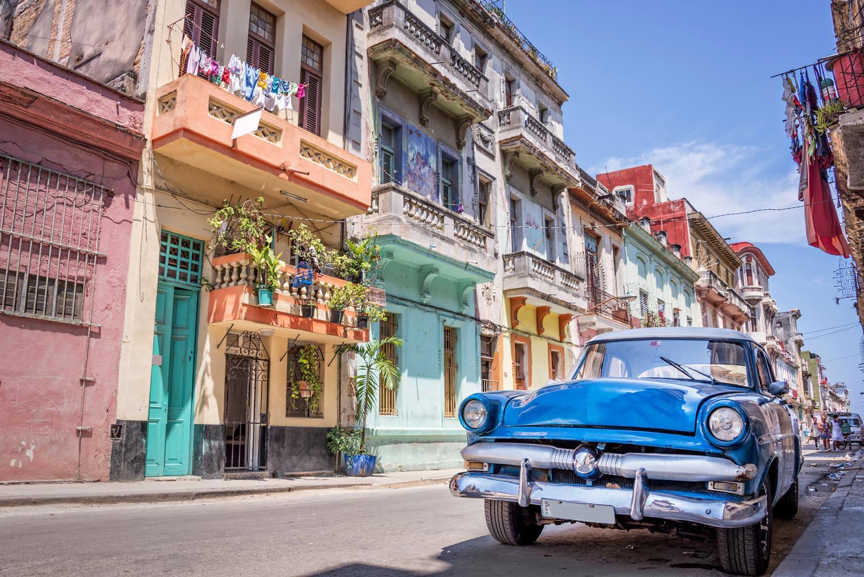 A classic streetscape in Old Havana. Delpixel/Shutterstock.com