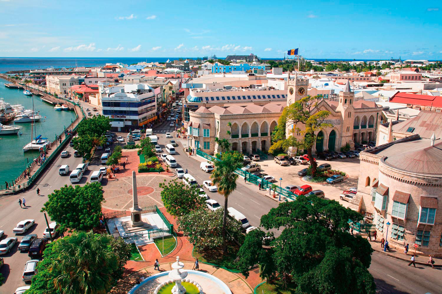 National Heroes Square at the heart of Bridgetown. Photo by Agf Sri/Alamy Stock Photo