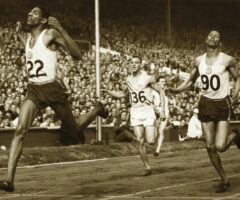 Jamaica's Olympic hero Arthur Wint, on the left, at the 1948 London Games. Photo by OsmondPhotos.com/Alamy Stock Photo