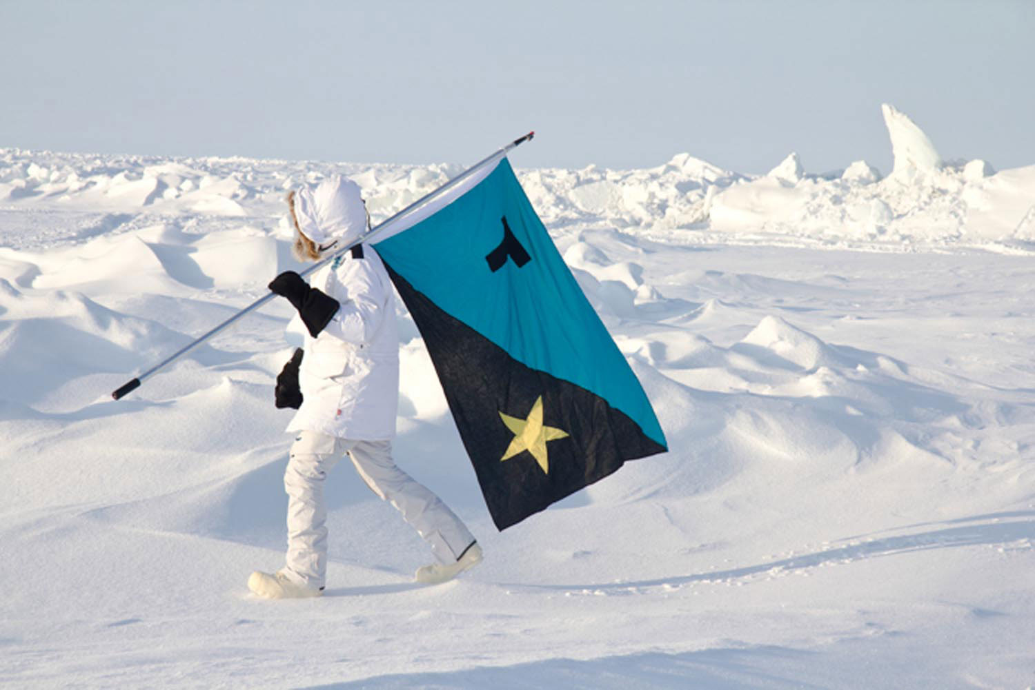 Tavares Strachan on one of his expeditions to the North Pole. Photo courtesy the artist