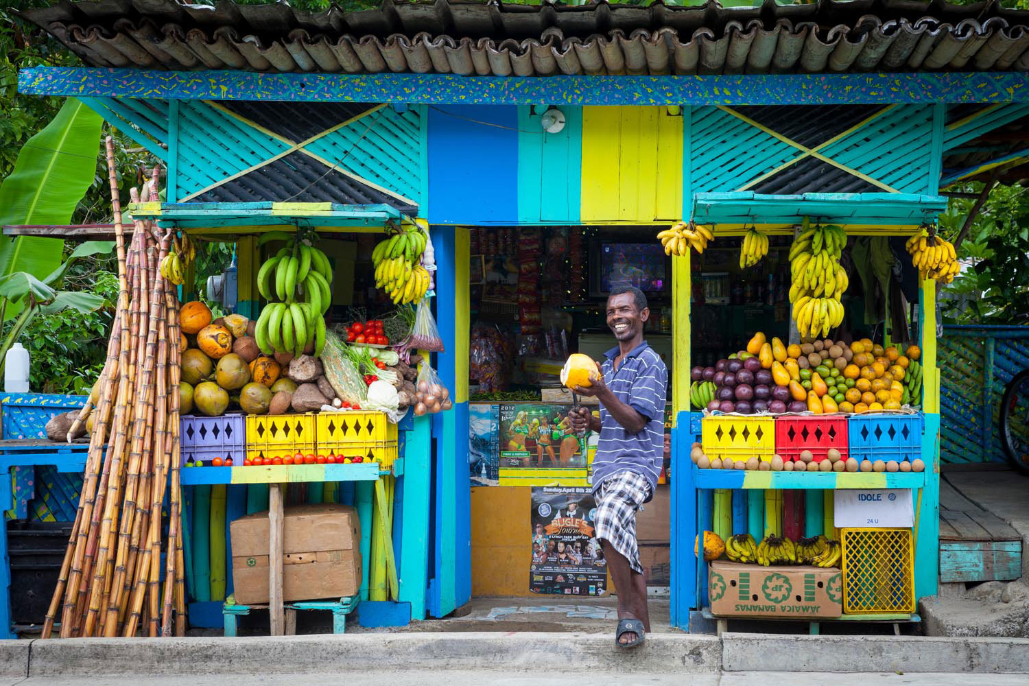 Everything irie in the Jamaican countryside. Jon Arnold Images Ltd/Alamy Stock Photo