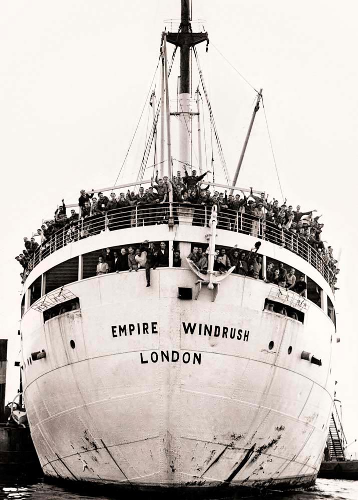 The Empire Windrush arrived at Tilbury with 1,027 passengers — more than eight hundred of them West Indian immigrants, considered UK citizens under the British Nationality Act. Contraband Collection/Alamy Stock Photo