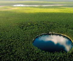The blue holes dotting the landscape of Andros are both tranquil and eerie. Photo courtesy the Bahamas Ministry of Tourism & Aviation