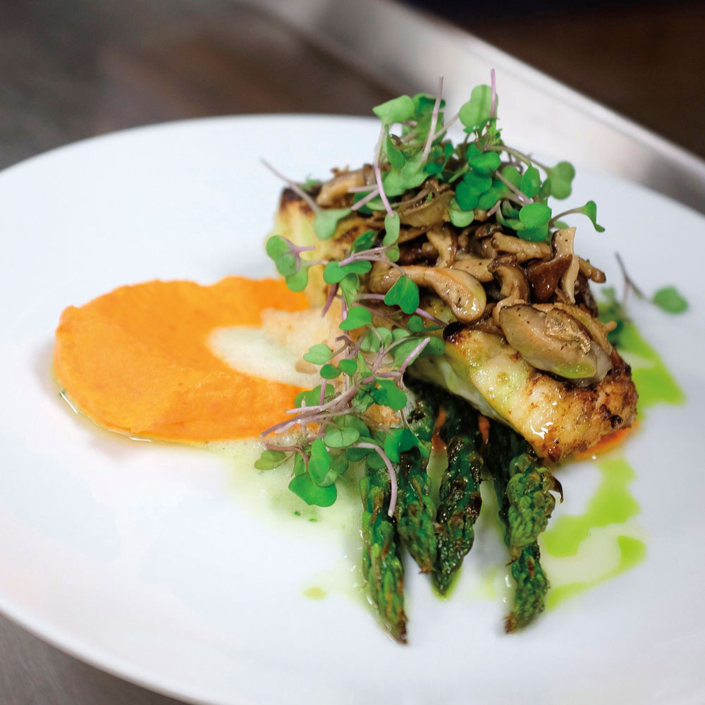 Snapper with a carrot purée. Photo courtesy Caribbean Holiday Guest Chef Series