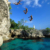 Taking the plunge in Negril. Prisma By Dukas Presseagentur Gmbh/Alamy Stock Photo