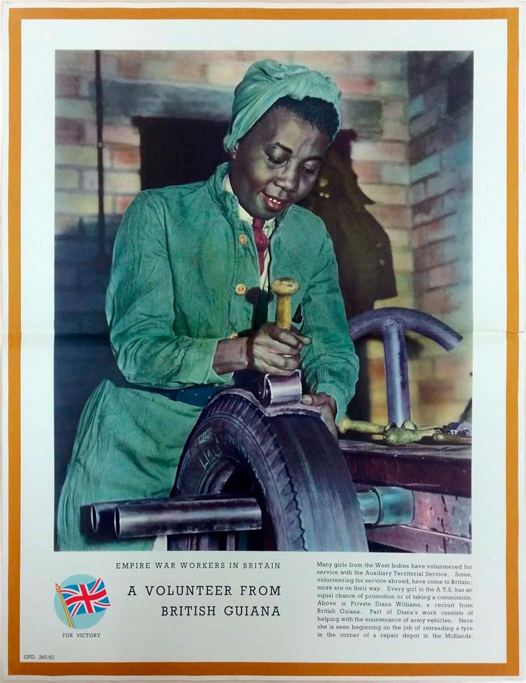 West Indian immigration to the UK didn't start with the Windrush. This Second World War poster explains the contributions of West Indians in Britain to the war effort. Photo courtesy The British Library