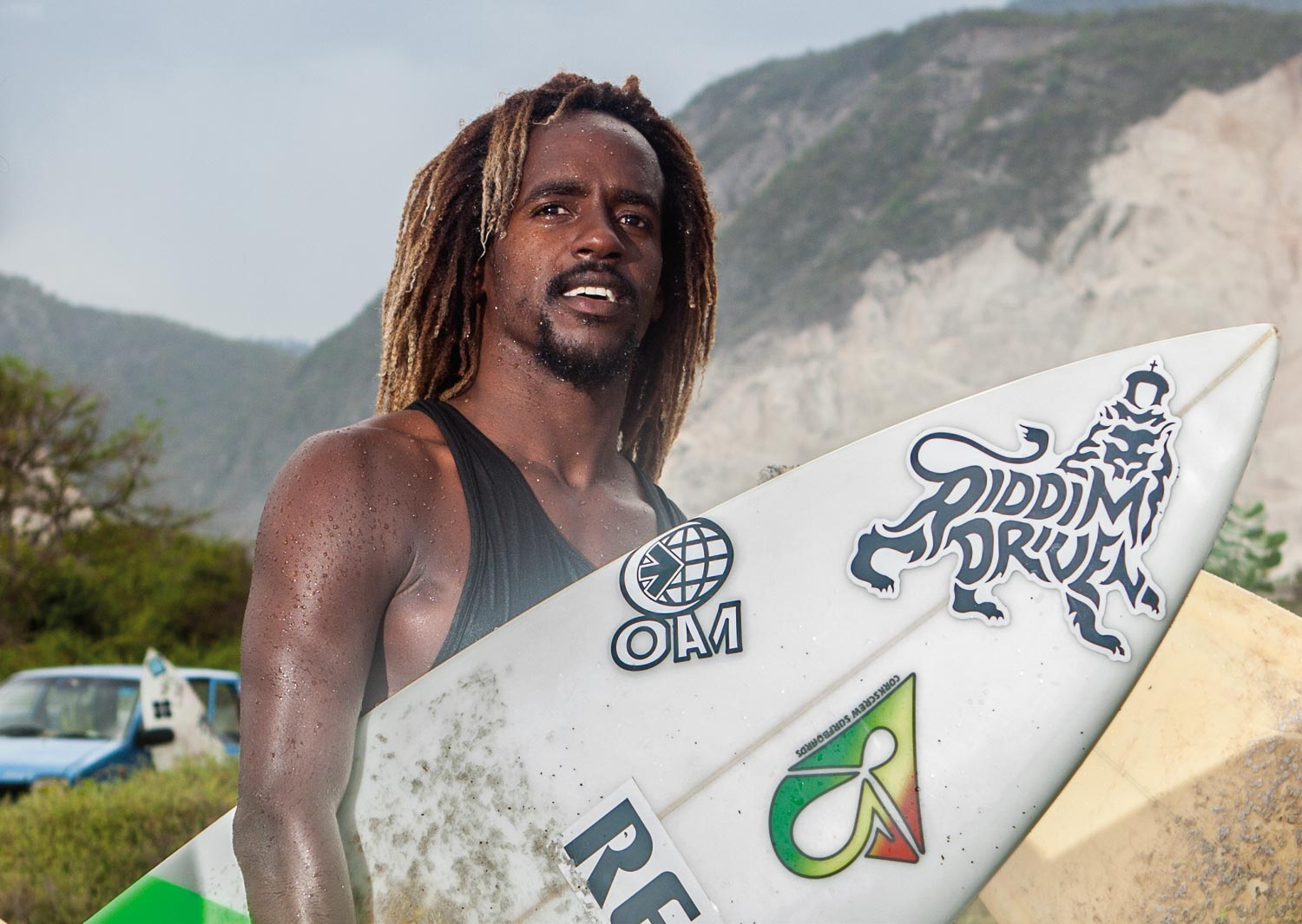 """Surfing is for everyone,"" says Icah Wilmot. Photography by Marlon James"