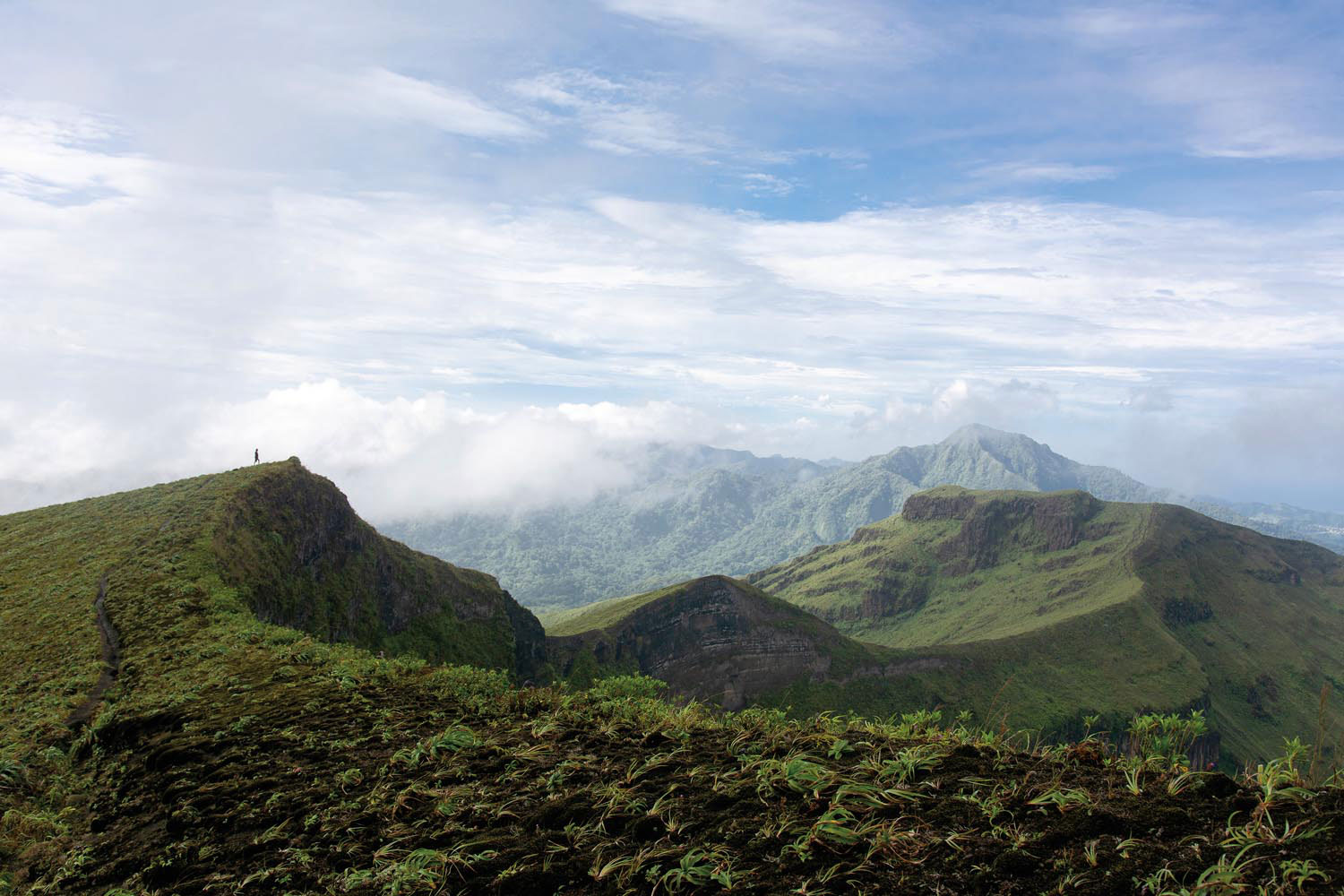 The windswept summit of Soufrière in northern St Vincent. Photograph by Stephanhornsey.com