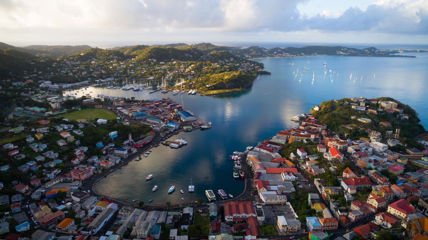 St George's, one of the Caribbean's most picturesque capitals. Photograph courtesy Pure Grenada Tourism Authority
