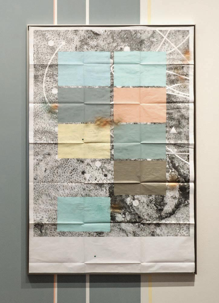 From The Fold series (2016, mixed media installation), by Adler Guerrier, from the exhibition Relational Undercurrents. Photo courtesy Of The Artist and David Castillo Gallery, Miami