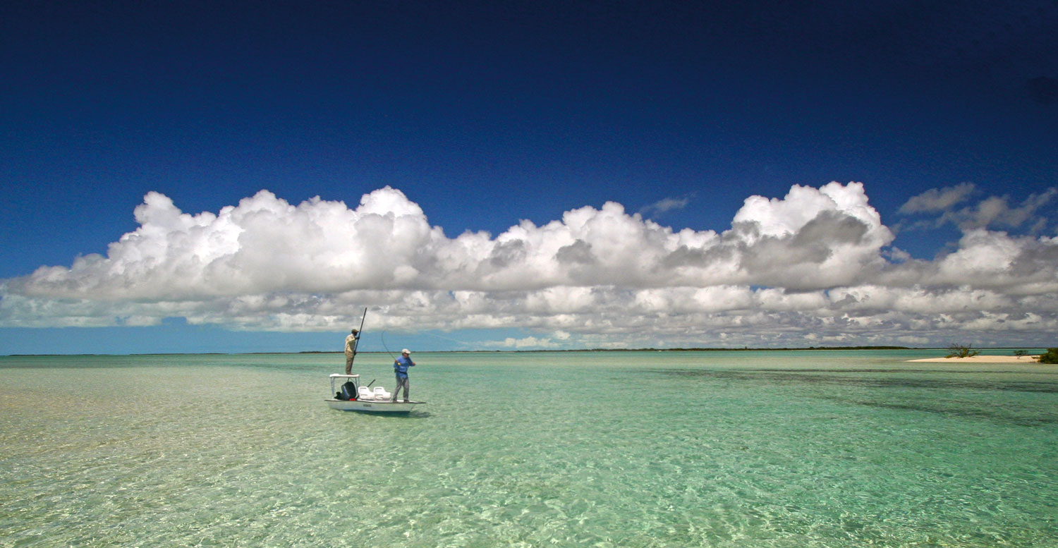 Fishing on the Great Bahama Bank. Photograph by Brian O'Keefe