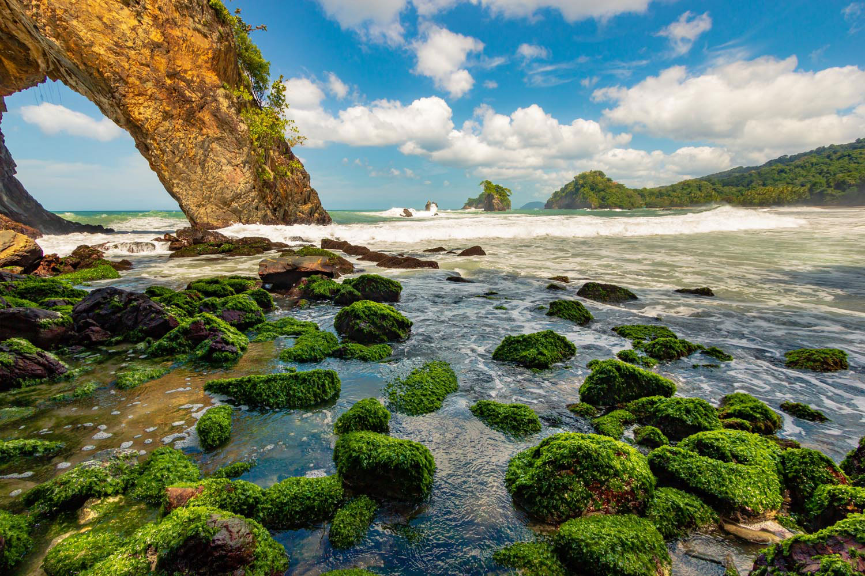 Remote Paria Bay on Trinidad's north coast. Photograph by Ziad Joseph
