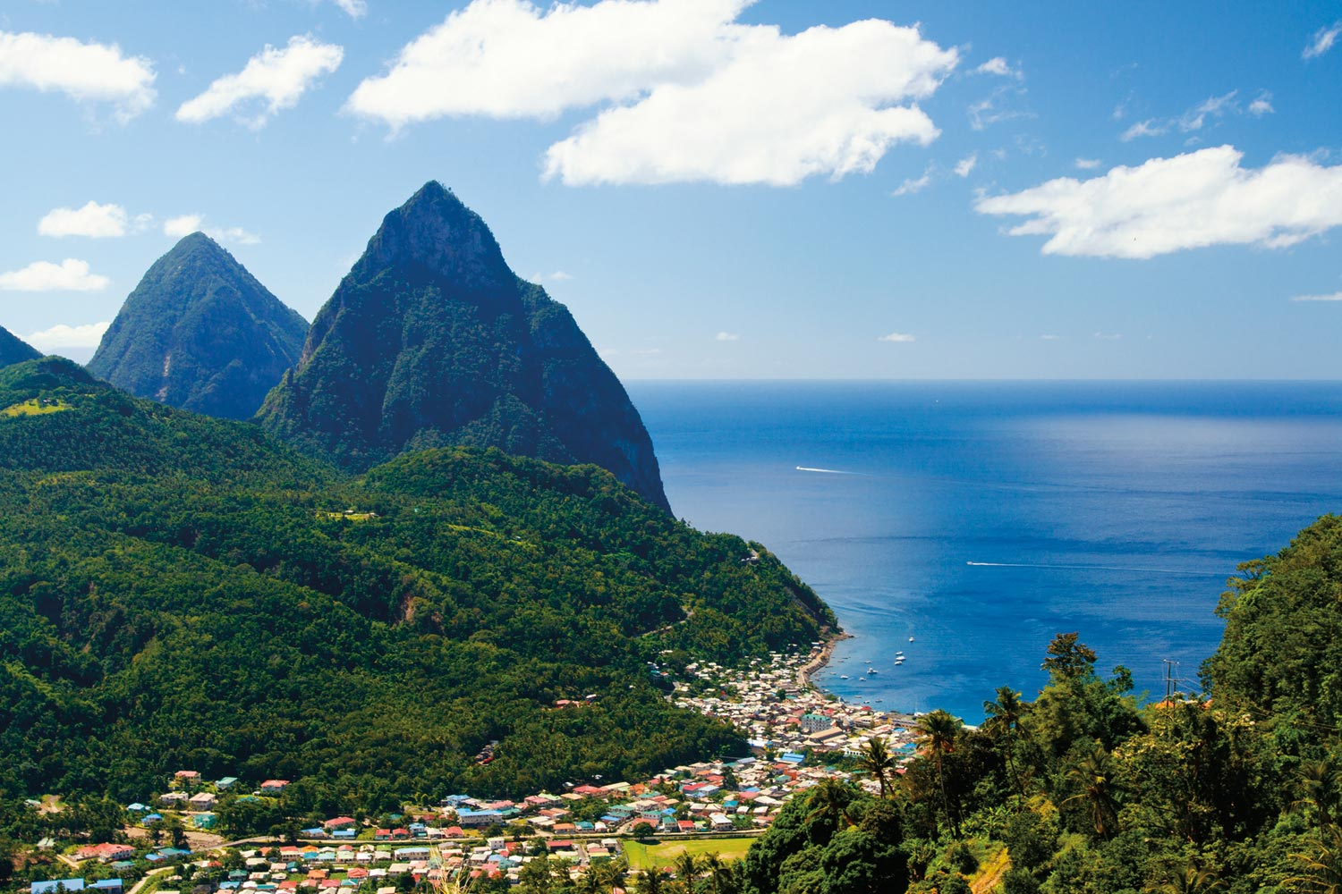 The majestic Pitons have inspired St Lucia's poet for generations. Photograph by Lucia Pitter / Shutterstock.com