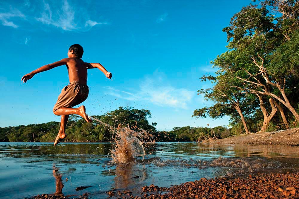The Rupununi River is a wild playground at the heart of Guyana. Photo by Pete Oxford