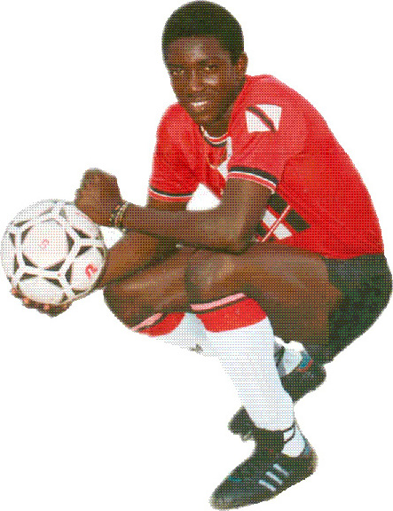 Young Yorke in Trinidad and Tobago colours. Photograph courtesy Trinidad Express Newspapers