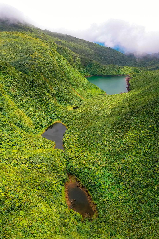 Boeri Lake in Morne Trois Pitons National Park, near the Waitukubuli route. Photo courtesy Discover Dominica Authority