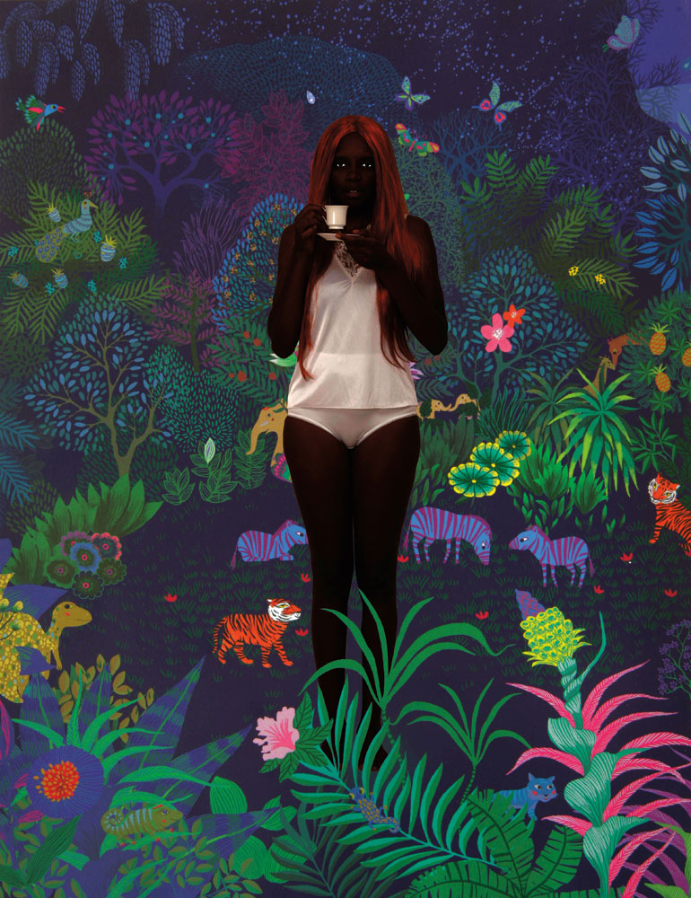 Notebook of No Return, Jungle (photo montage, variable size, 2016), by Kelly Sinnapah Mary. Photography courtesy Kelly Sinnapah Mary