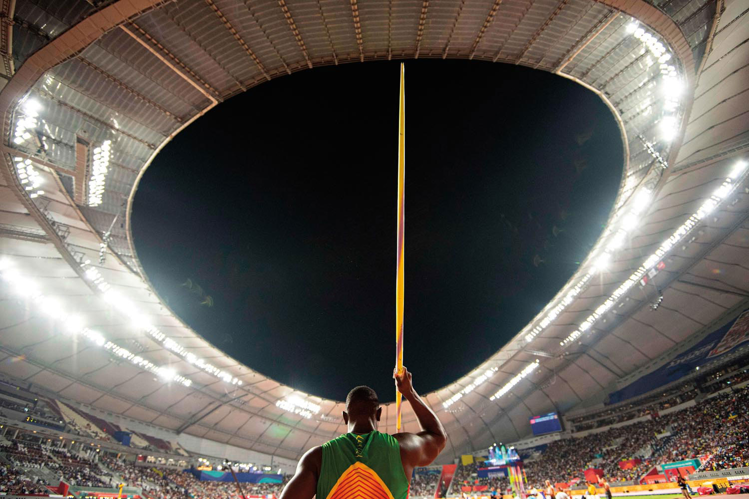 Anderson Peters at the 2019 World Championships in Doha. Photo by DPA/Alamy Stock Photo