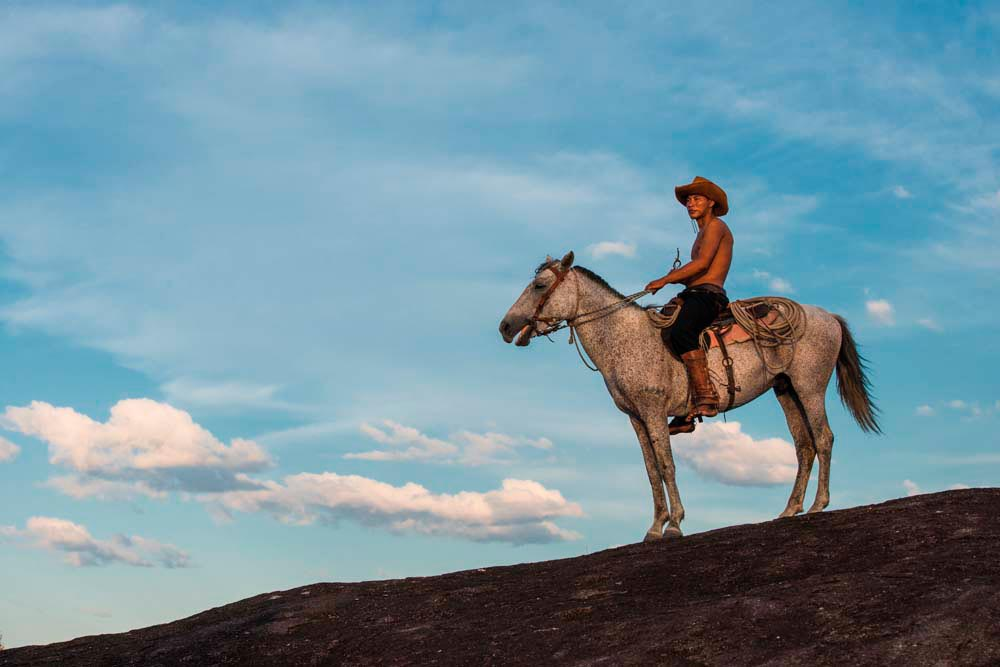 The Rupununi Savannah is still the territory of traditional vacqueiros. Photo by Pete Oxford