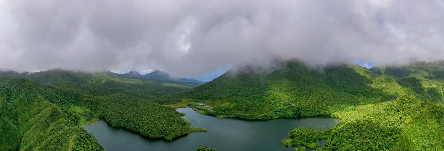 Freshwater Lake sits at the bottom of an ancient caldera. Photo courtesy Discover Dominica Authority