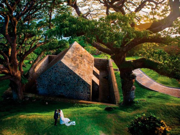 Historic Fort King George overlooking Scarborough in Tobago makes a regal setting for any couple's wedding photos. Photo by Relatestudios.com
