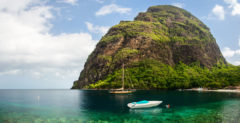 The sheltered bay between the Pitons, St Lucia's iconic twin peaks. Photo by BlueOrange Studio/Shutterstock.com