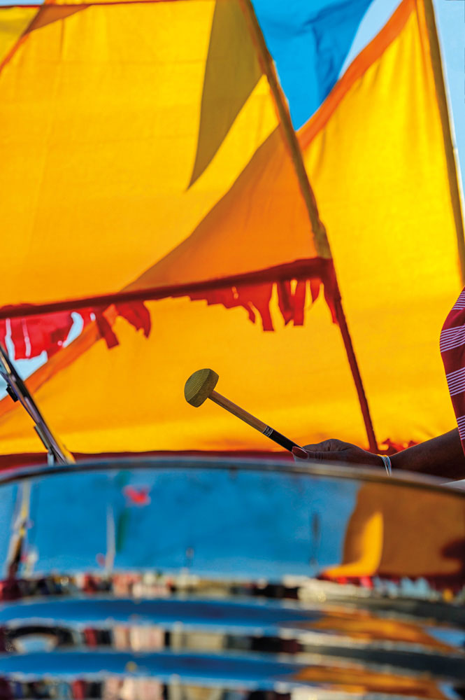 Carnival season brings renewed attention — and anxiety — to the state of the steelpan, T&T's national musical instrument. Photo by Rick Rudnicki/Alamy Stock Photo