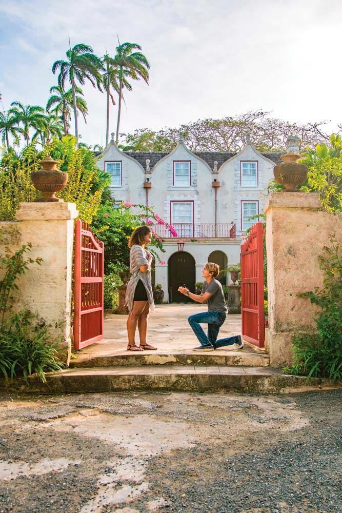 Seventeenth-century St Nicholas Abbey in Barbados is a storybook backdrop for an unexpected proposal. Photo by Barbados Tourism Marketing Inc/Visitbarbados.org