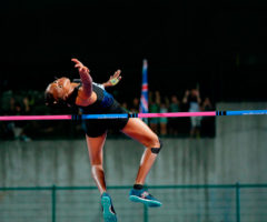 Levern Spencer at the 2019 Palio Città della Quercia athletics meet in Italy. LPS/Roberto Tommasini/Alamy Live News