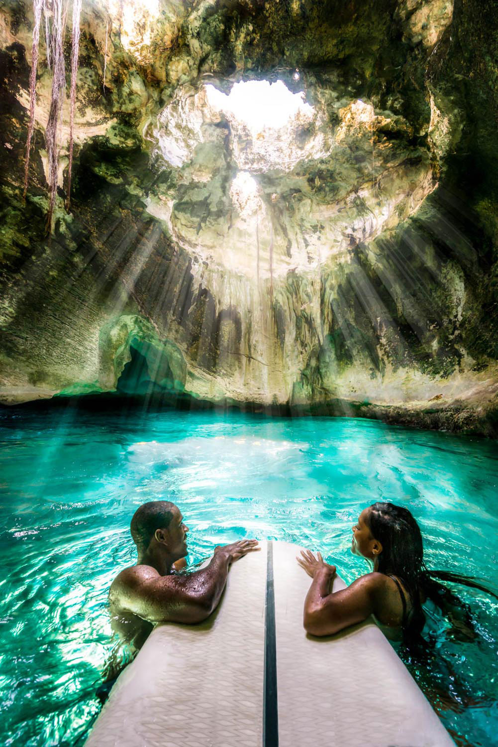 Exploring Thunderball Grotto in Exuma. Photo courtesy Bahamas Ministry of Tourism and Aviation