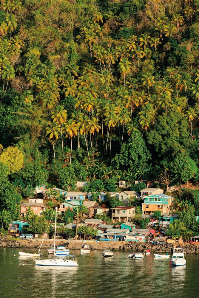 Soufrière, on St Lucia's southwest coast. Photo by Roberthardin/Alamy Stock Photo