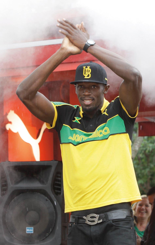 Usain Bolt. Photograph courtesy Puma