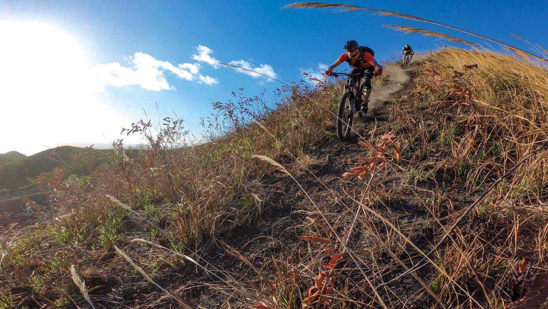 Experience the adrenaline surge of mountain biking in Tobago. Photo courtesy Tobago Mountain Bike Tours
